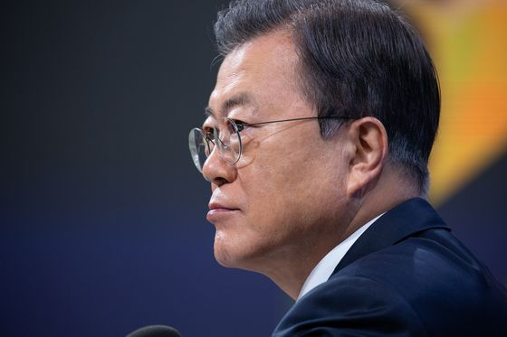 Moon's Support Hits Record Low Amid South Korean Land Scandal
