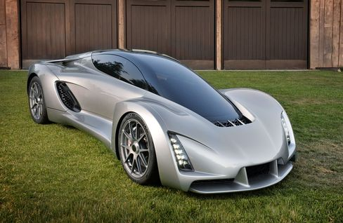 Divergent's 3D-printed Blade supercar.
