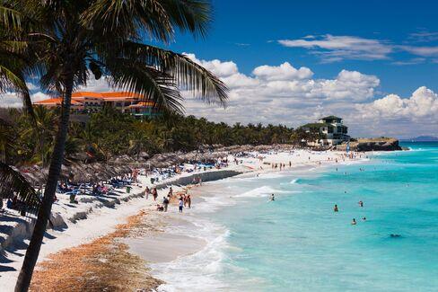 Varadero Beach, Cuba. Just imagine all the sunburned American tourists.