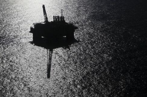 Petrobras platform P-51 stands in deep water off the Brazilian coast.