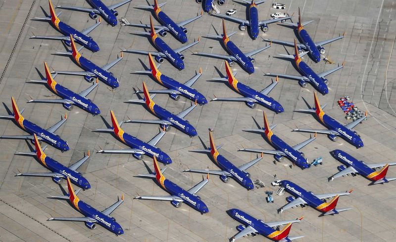 Southwest Parks Grounded Boeing 737 MAX Planes At Remote California Airport
