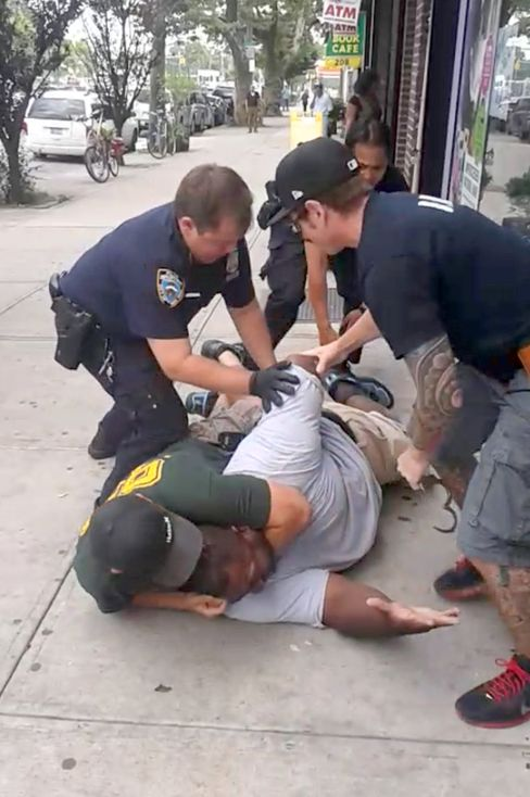 Eric Garner died while being arrested by police in Staten Island.