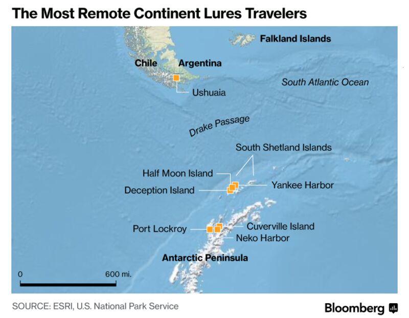 Antarctic Peninsula World Map