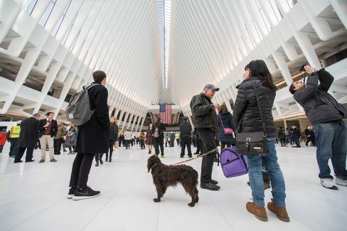 Inside the Oculus on opening day.