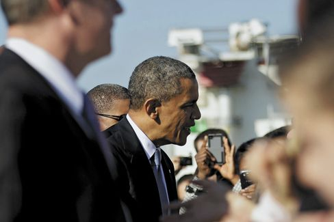 For Obama, Still Lots of Love, and Cash, Out West