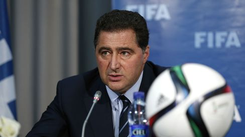 The FIFA Chairman of Audit and Compliance Domenico Scala talks to the media during a FIFA press conference on Dec. 19, 2014 in Marrakech, Morocco.