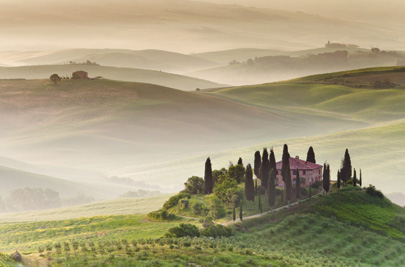 A $4.99 royalty-free Web image of a Tuscan villa