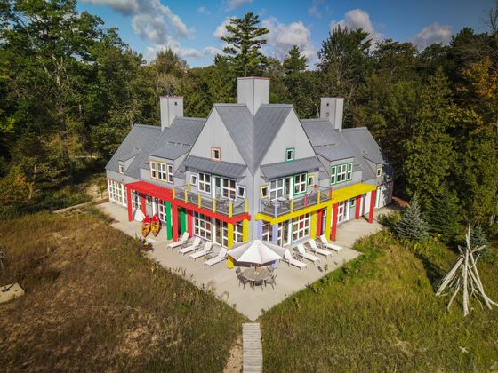 The Famous Postmodern 'Crayola' House Is for Sale