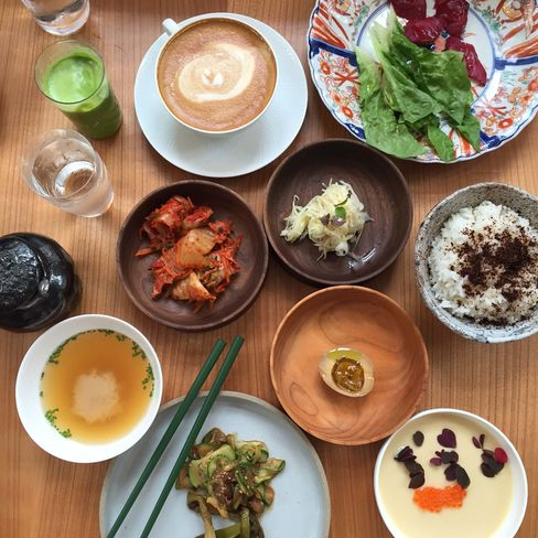 The savory Japanese breakfast at Admiralgade.