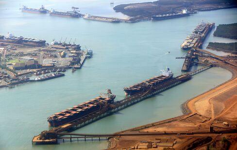 Australian iron ore exports