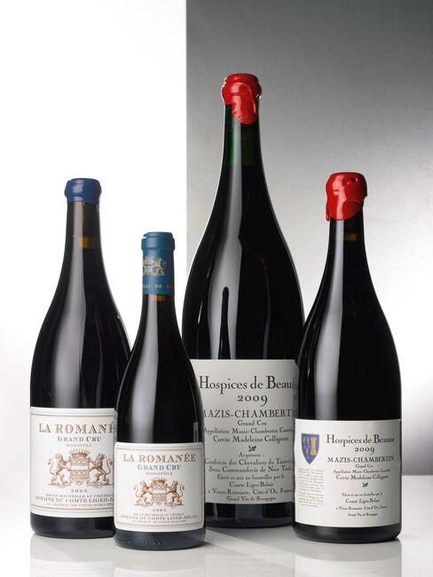 At its peak, Stott's collection included about 120,000 bottles. Pictured: Lot 281: La Romanée 2005 Domaine du Comte Liger-Belair; Côte de Nuits, Grand Cru; estimate per lot: $24,000-$32,000; Lot 282: La Romanée 2005 Domaine du Comte Liger-Belair; Côte de Nuits, Grand Cru; estimate per lot: $5,000-$7,000.