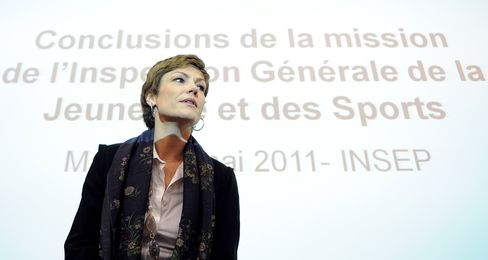 French Sports Minister Chantal Jouanno