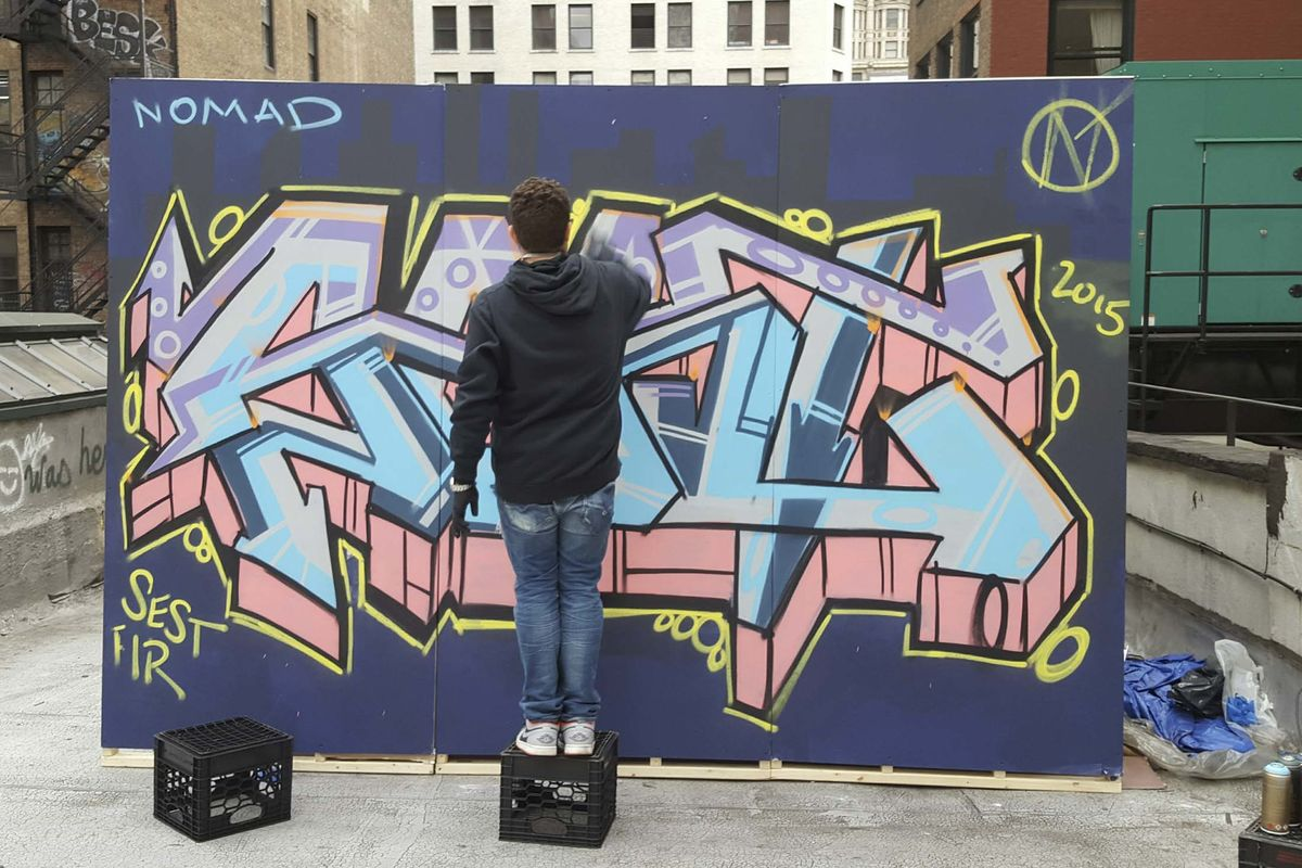 The nomads chef james kent is a graffiti artist on the side bloomberg