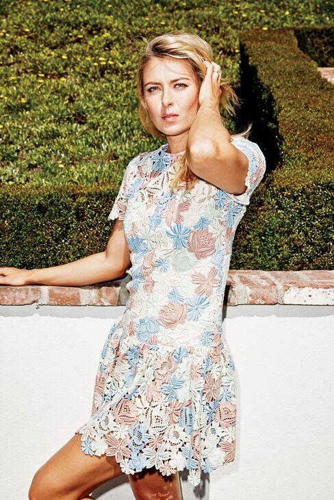 On Sharapova: Dolce & Gabbana dress.