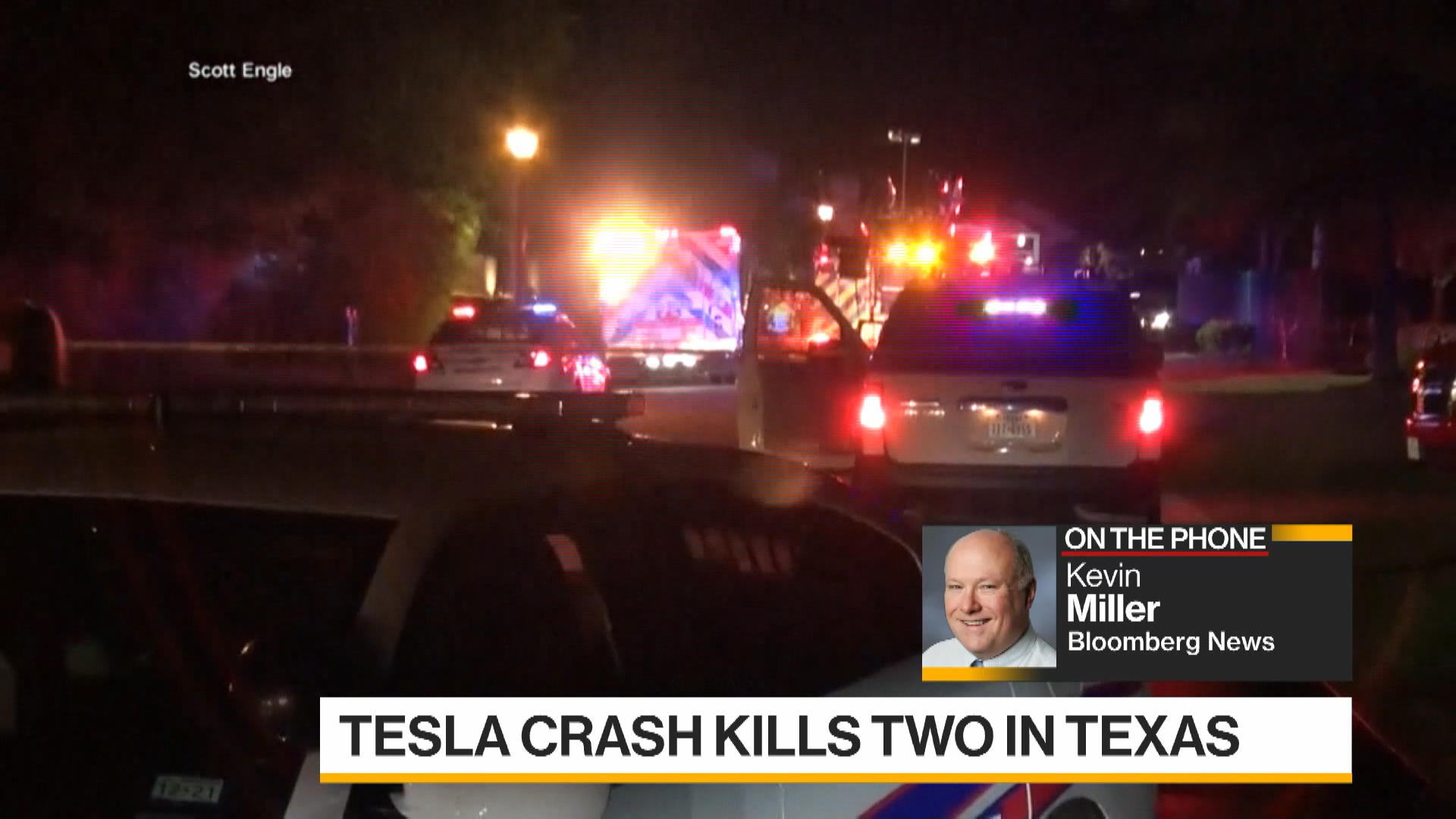 Tesla With 'No One' Driving Crashes, Killing Two