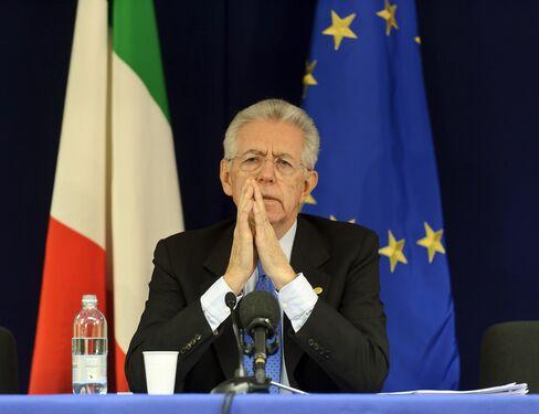 Italy's Prime Minister Mario Monti