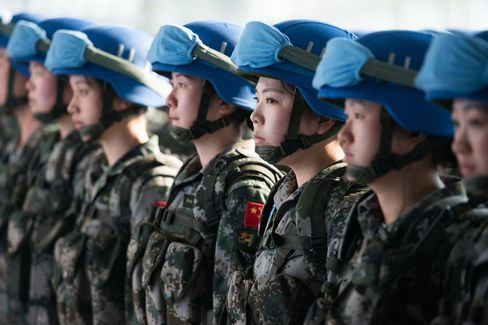 A Chinese peacekeeping squad for the UN in Sudan