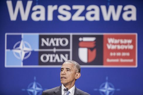 arack Obama at the NATO Warsaw Summit on July 9.