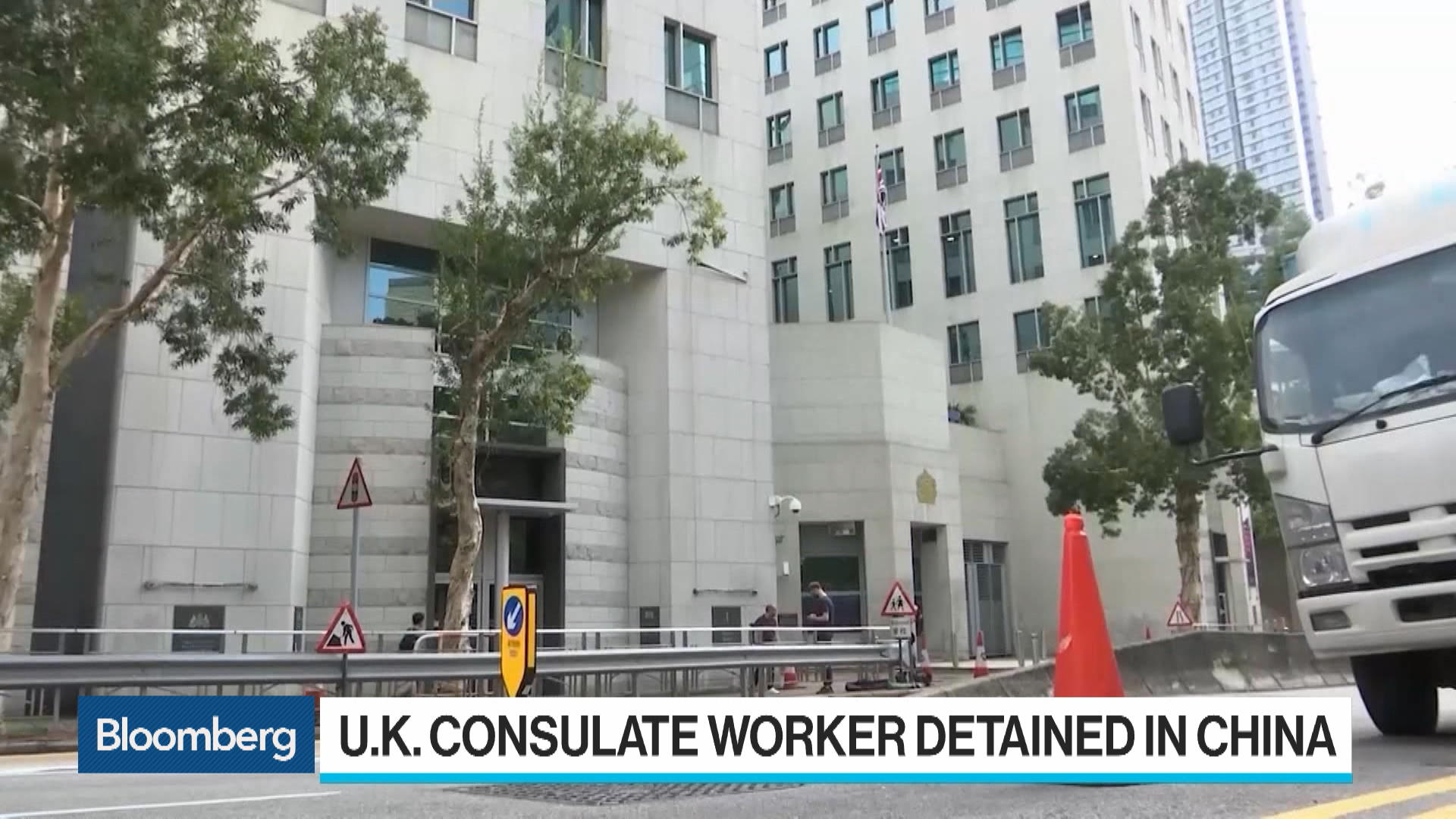 China Confirms Detention of U.K. Consulate Staffer in Hong Kong