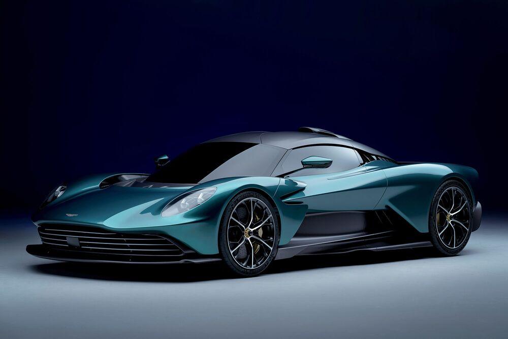 The Aston Martin Valhalla concept automobile.