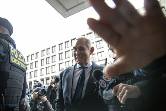 Roger Stone Goes Silent as His Lawyer Enters Plea of Not Guilty