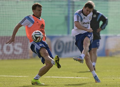 Lionel Messi In Training Yesterday