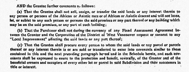Restrictive covenant document.