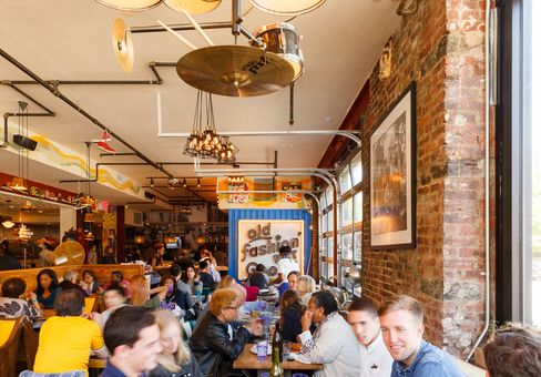 The dining room at Streetbird doesn't take reservations and is generally packed.