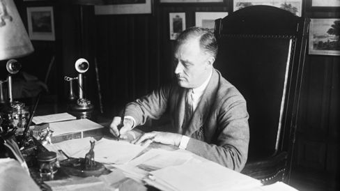 Wage controls created by FDR to curb inflation during World War II spurred employers to offer health coverage as a fringe benefit.