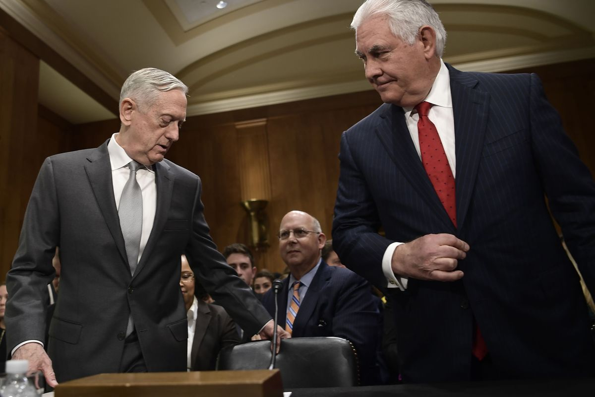 Tillerson, Mattis Say Terror Wars Don't Need Congress's Approval