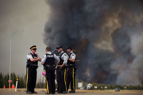 RCMP at Fort McMurray