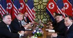 Trump andKim Jong Un, center left and right,hold a bilateral meeting in Hanoi on Feb.28, 2019.