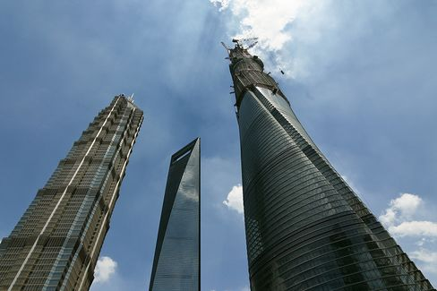 China's Tallest Building Reaches Highest Point Amid Slowdown