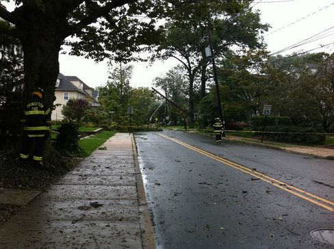 Storm damage in Princeton, New Jersey, Aug. 28, 2011