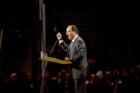 French Election Frontrunner Francois Hollande