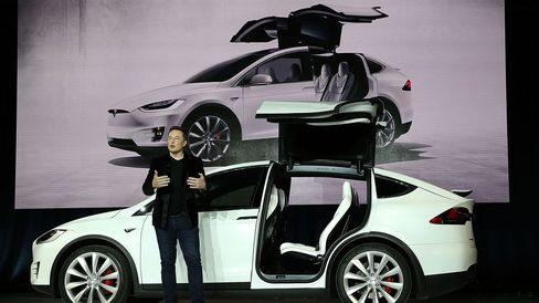 Tesla Chief ExecutiveElon Musk during the launch event.