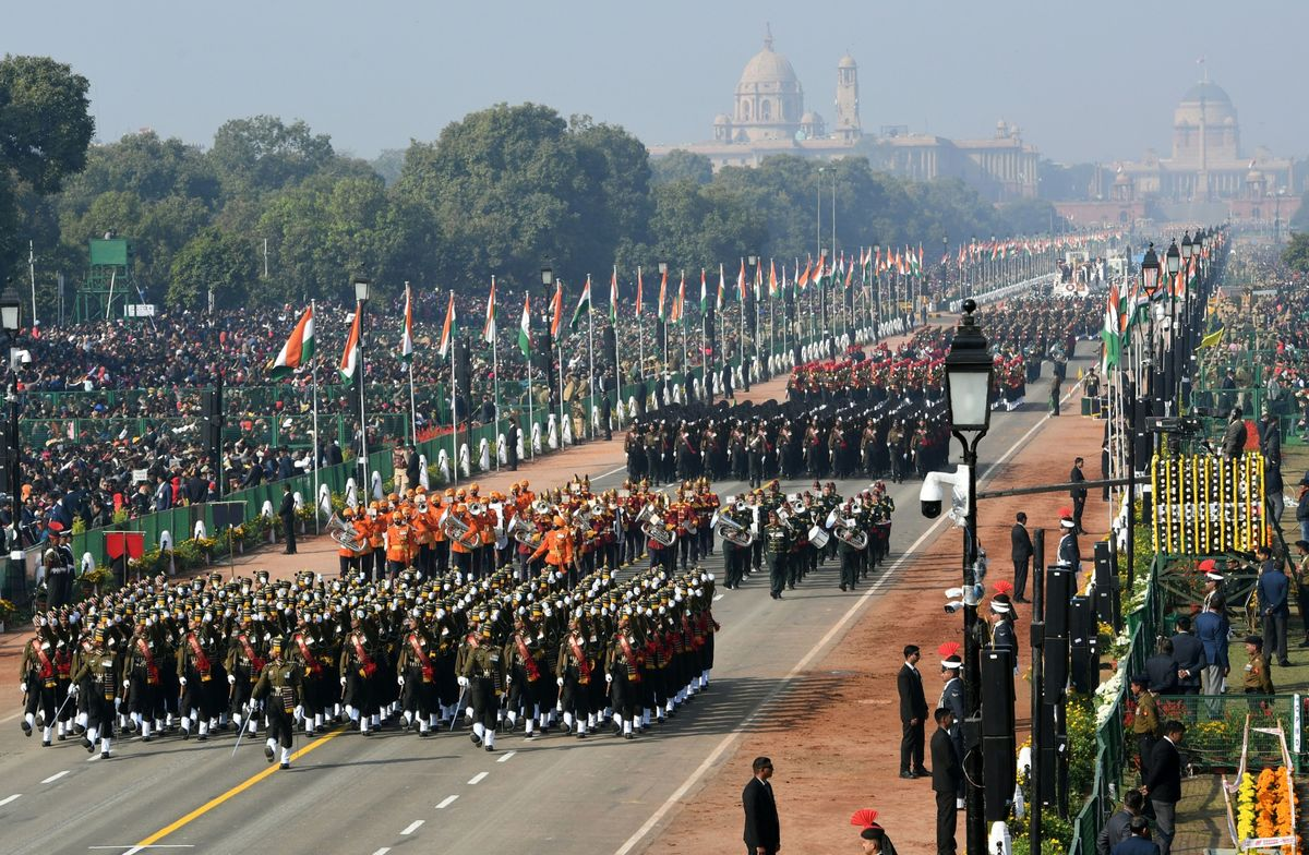 India Showcases Its Military Might at Republic Day Parade