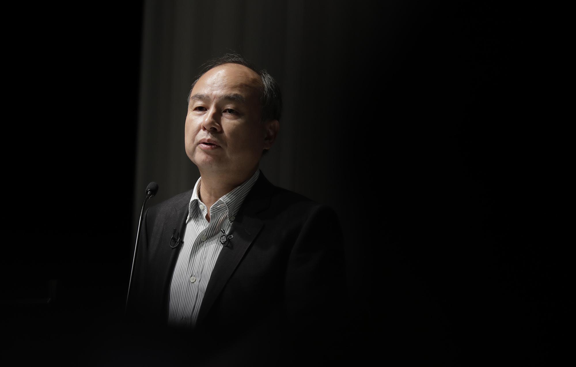 ソフバンクG社長、 巨額赤字も「萎縮不要」-3号ファンド意欲 - Bloomberg