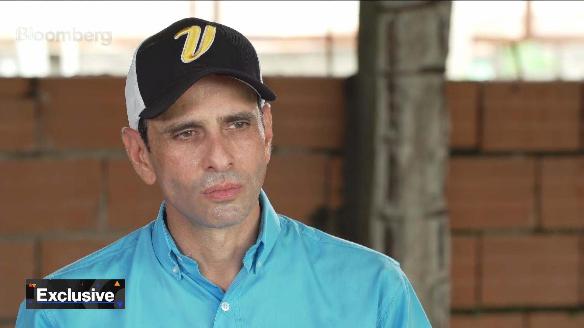 Venezuela Opposition Leader Capriles Says Pressure on Maduro