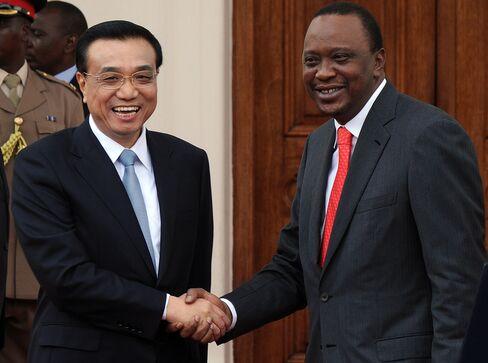 Chinese Premier Li Keqiang & Kenyan President Uhuru Kenyatta
