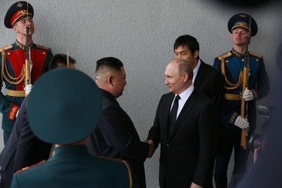 North Korea's Kim SlamsU.S. for 'Bad Faith'in Talks With Putin