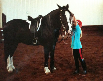 The author and Jill McCrae's horse, Andante