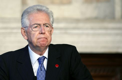 Monti Says He Won't Preclude Second Term as Prime Minister