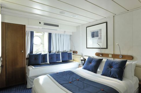 A stateroom on Le Ponant