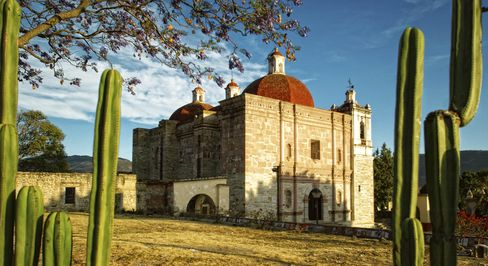 A church near the ruins of Mitla, about 40 minutes outside Oaxaca.