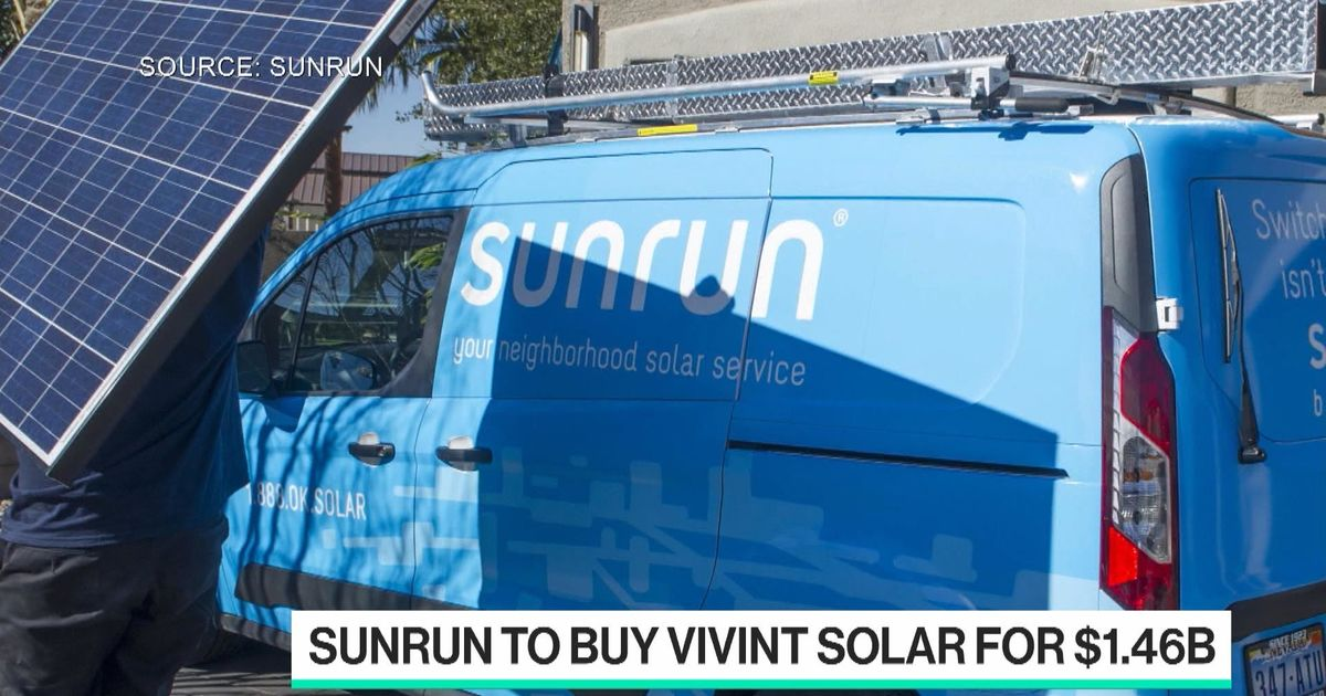 Sunrun Buying Rival Vivint for $1.46 Billion