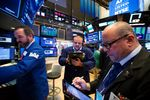 Trading On The Floor Of The NYSE As U.S. Stocks Hold Gains As Trump Pressures Apple
