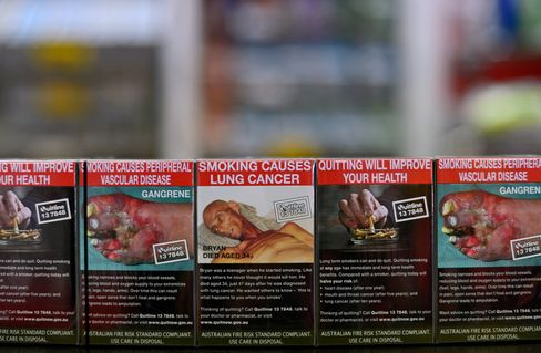 Packs of Cigarettes in Plain Packaging Sit in Melbourne