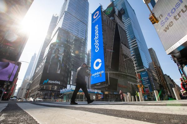 Coinbase Global Debuts Initial Public Offering At Nasdaq MarketSite