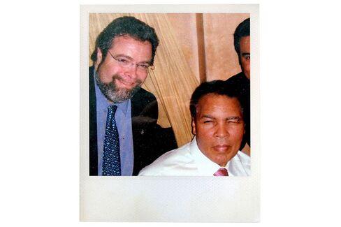 Celebrity life: Nieporent with the boxer Muhammad Ali.